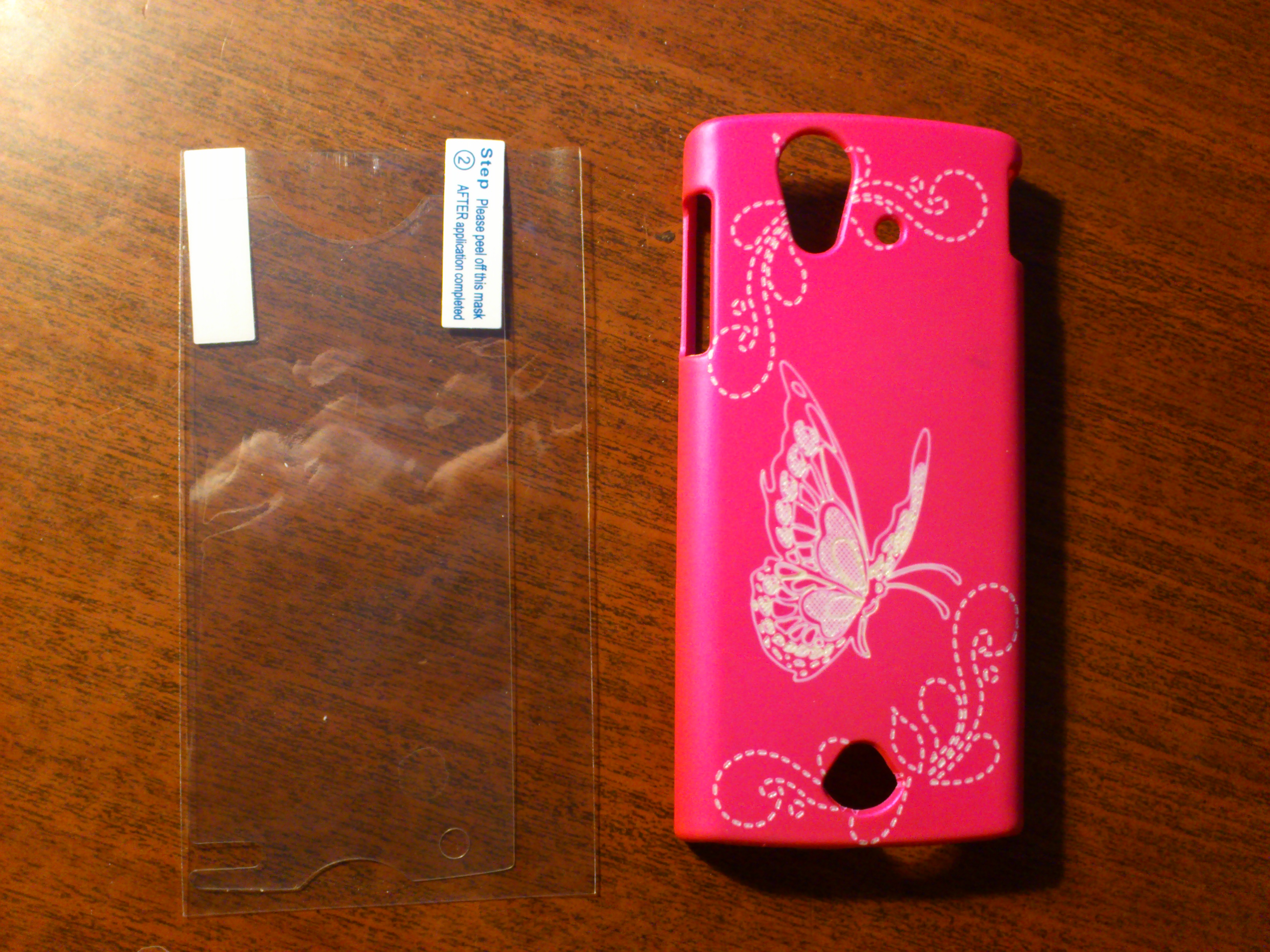 Butterfly Xperia Ray ST18i Hotpink